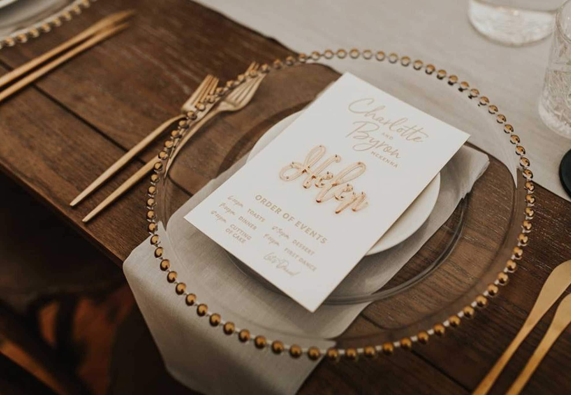 silk-estate-marquee-weddings-and-events-styling-and-hire-crockery-gold-beaded-charger-plate
